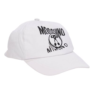Moschino white Moschino Milano cotton baseball cap