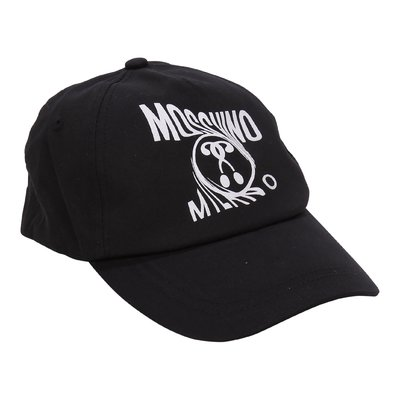 Moschino black Moschino Milano cotton baseball cap