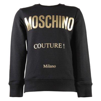 Moschino Couture black cotton sweatshirt