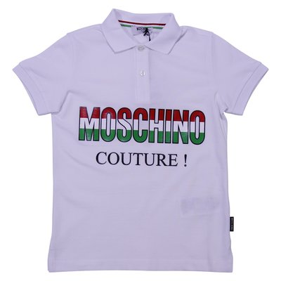White cotton piquet polo