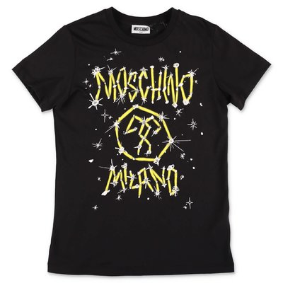 MOSCHINO black cotton jersey t-shirt