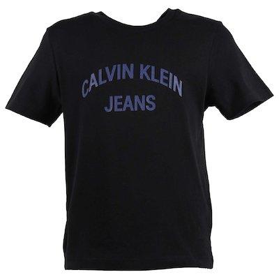 T-shirt nera in cotone biologico con logo