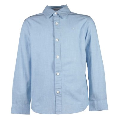 Light blue cotton popeline shirt