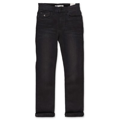 Calvin Klein black stretch cotton denim vintage effect jeans