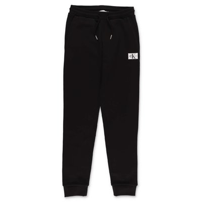 Calvin Klein black cotton blend pants