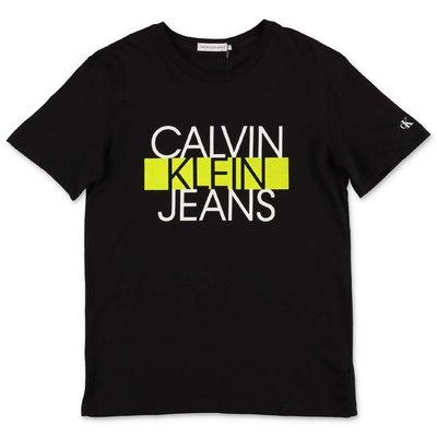 Calvin Klein logo black organic cotton jersey t-shirt