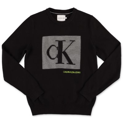 Calvin Klein black organic cotton knit jumper