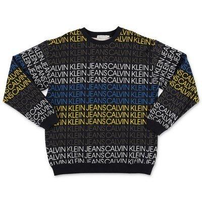 Calvin Klein felpa in cotone organico con logo