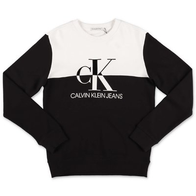 Calvin Klein black & white cotton sweatshirt