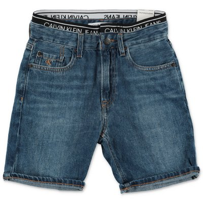Calvin Klein blue stretch denim cotton shorts