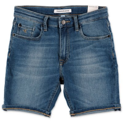 Calvin Klein shorts blu in denim di cotone stretch