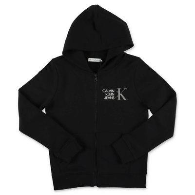 Calvin Klein black cotton hoodie