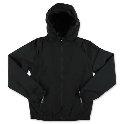 Calvin Klein black nylon waterproof jacket with hood