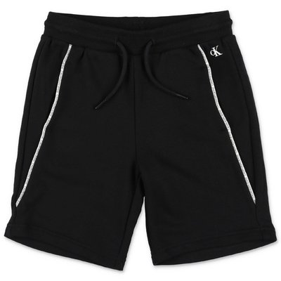 Calvin Klein black cotton sweat shorts