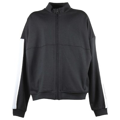 Black viscose zipped sweatshirt
