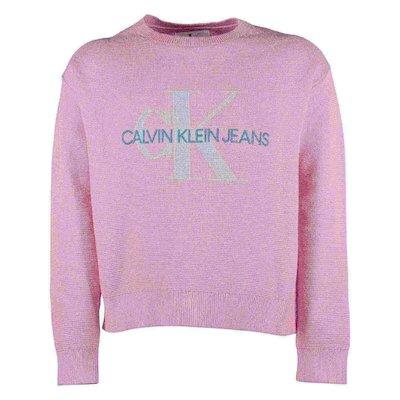 Pullover rosa in maglia di cotone biologico