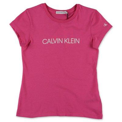Calvin Klein t-shirt fucsia in jersey di cotone