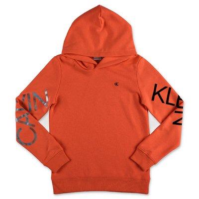 Calvin Klein fluo pink cotton sweatshirt hoodie