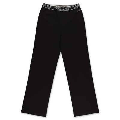 Calvin Klein black viscose blend pants