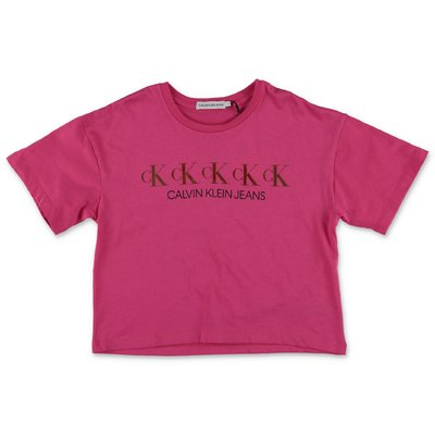 Calvin Klein fuchsia cotton jersey t-shirt