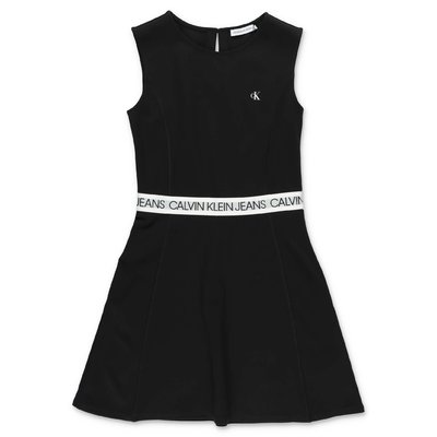 Calvin Klein black viscose dress