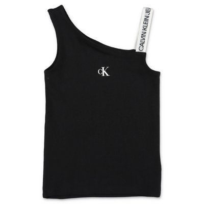 Calvin Klein black cotton jersey top