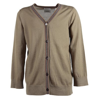 Tan pure merino wool cardigan