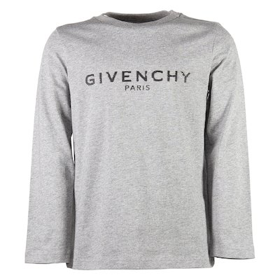 Marled grey vintage logo cotton jersey t-shirt