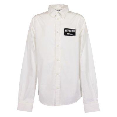 Camicia bianca Moschino Milano in popeline di cotone
