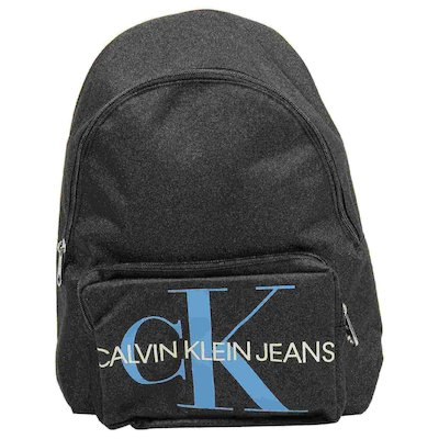 Black logo nylon twill backpack