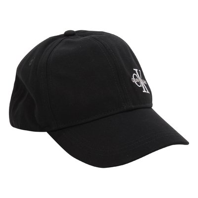 Calvin Klein black logo detail cotton canvas cap