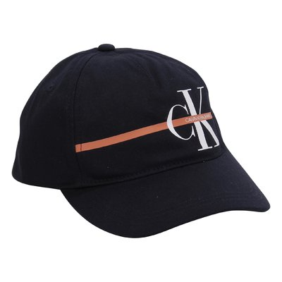 Calvin Klein navy blue logo detail cotton canvas cap