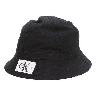 Cappello nero reversibile in tela di cotone