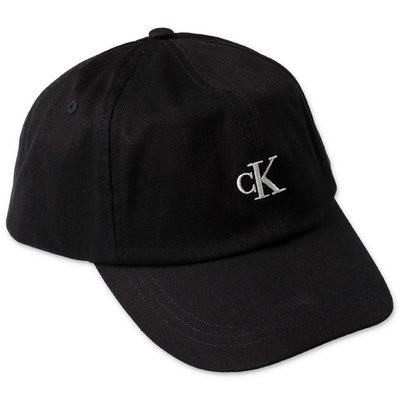 Calvin Klein berretto nero in tela di cotone
