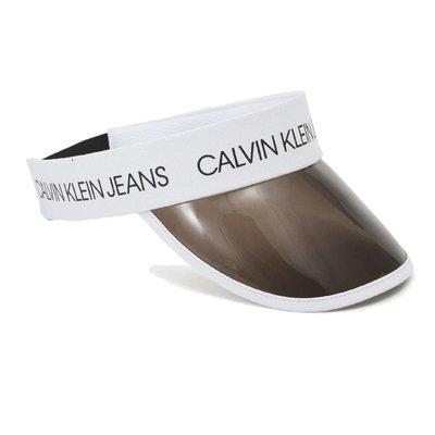 Calvin Klein logo visor