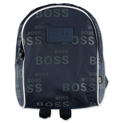 HUGO BOSS blue nylon backpack