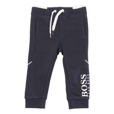 HUGO BOSS navy blue logo detail cotton sweatpants