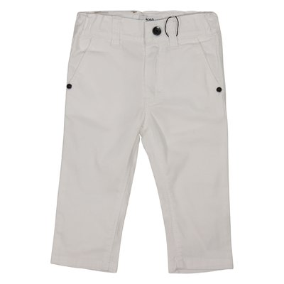 White casual style cotton pants