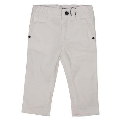 Pantaloni bianchi stile casual in cotone
