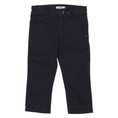 Blue casual style cotton pants