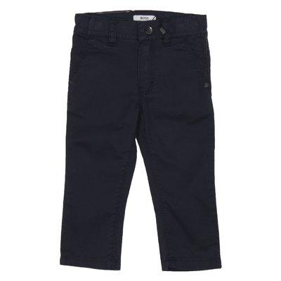 Pantaloni blu stile casual in cotone
