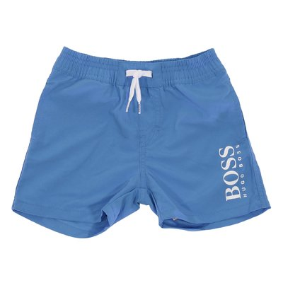 Blue nylon swim shorts