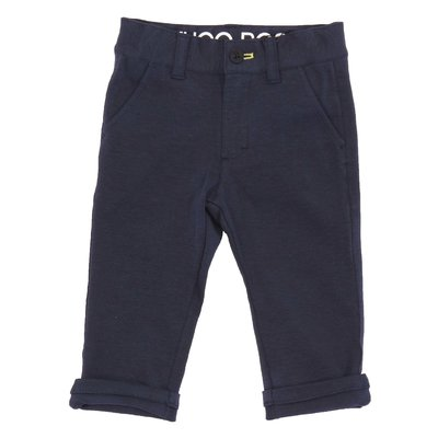 Navy blue stretch cotton pants
