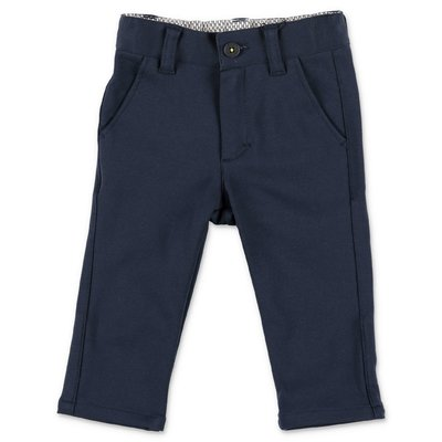 Hugo Boss navy blue cotton blend pants