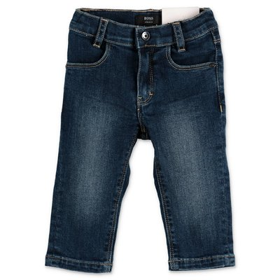 Hugo Boss blue stretch cotton denim jeans