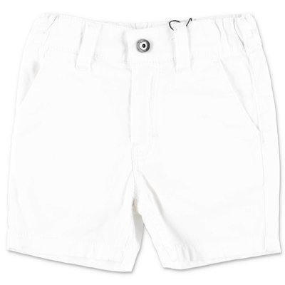 HUGO BOSS white cotton gabardine shorts