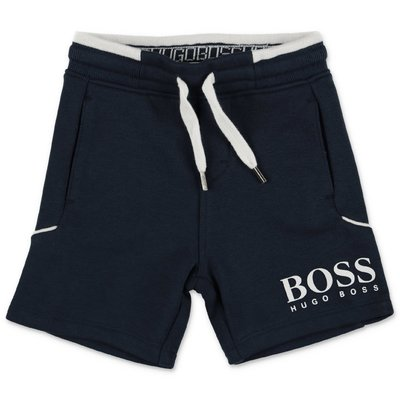 HUGO BOSS navy blue cotton sweat shorts