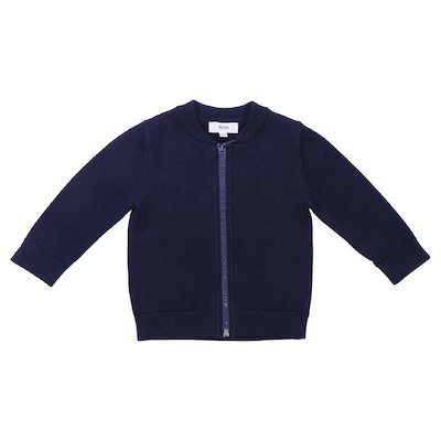Deep blue cotton cardigan