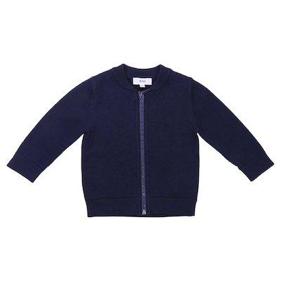 Cardigan blu scuro in cotone