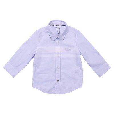 Camicia azzurra in popeline di cotone